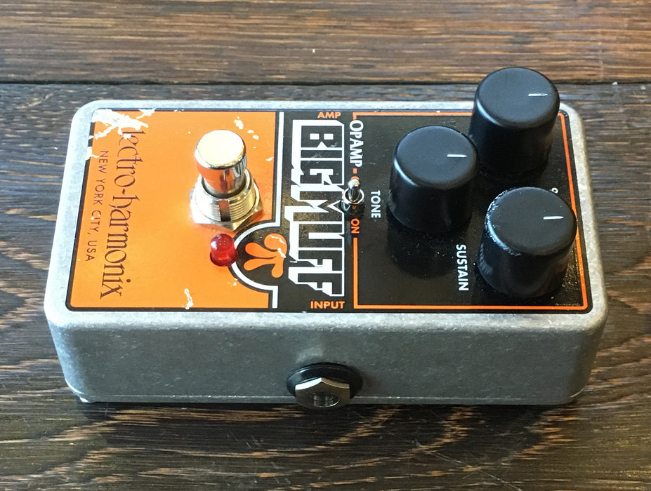 Used Electro-Harmonix Op-Amp Big Muff Pi Fuzz Guitar Effect Pedal