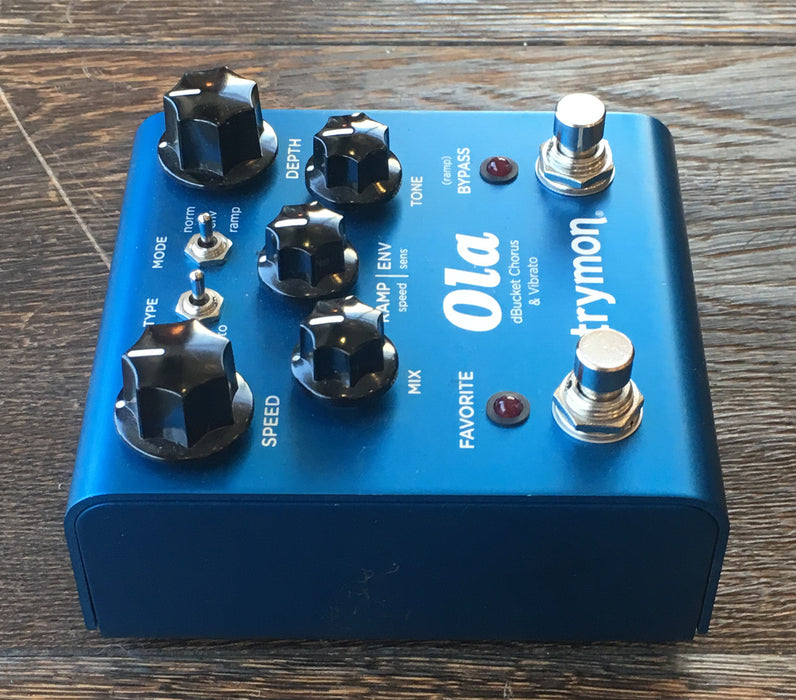 Used Strymon Ola Chorus/Vibrato Delay Guitar Effect Pedal With Adapter