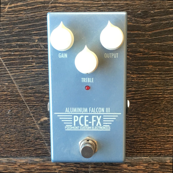 Used Piedmont Custom Electronics Aluminum Falcon III Overdrive Guitar Effect Pedal