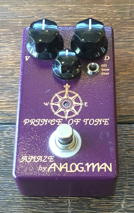 Used Analogman Prince of Tone Overdrive Guitar Effect Pedal With Box