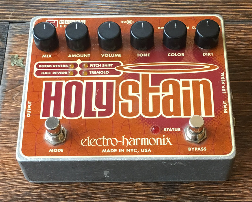 Used Electro-Harmonix Holy Stain Distortion/Tremolo/Reverb Multi-Effect Pedal