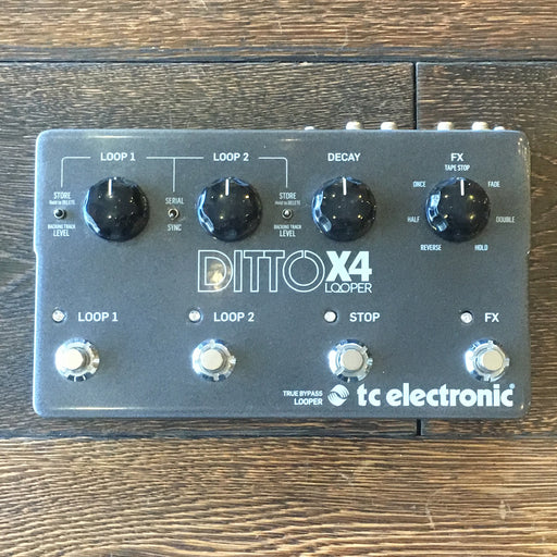 Used TC Electronic Ditto X4 Looper Guitar Effect Pedal With Box And Adapter