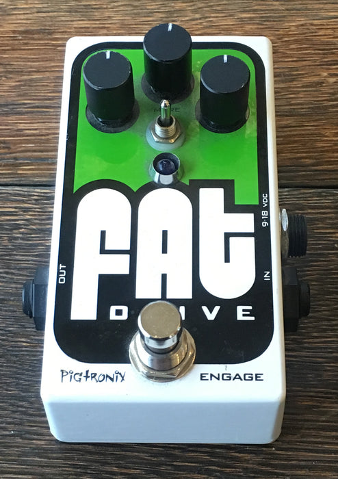 Used Pigtronix Fat Drive Overdrive Guitar Effect Pedal With Box