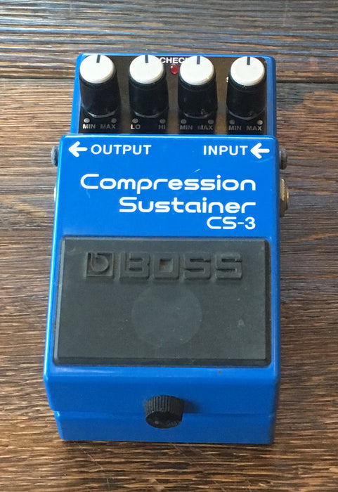 Used Boss CS-3 Compression Sustainer Guitar Effect Pedal With Box