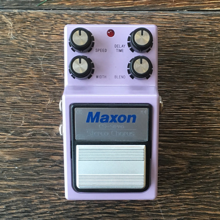 Used Maxon CS-9 Pro Stereo Chorus Guitar Effect Pedal With Box