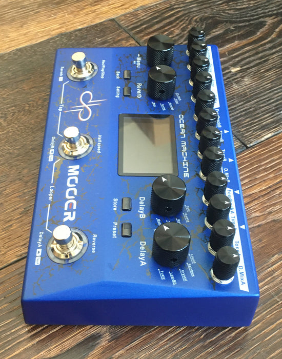 Used Mooer Ocean Machine Dual Delay Reverb Looper Multi-Effects Pedal With Box