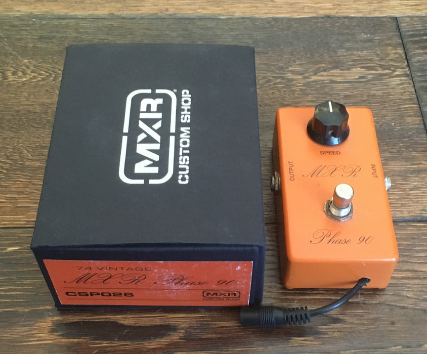 Used MXR CSP026 '74 Phase 90 Script Phaser Guitar Effect Pedal With Box