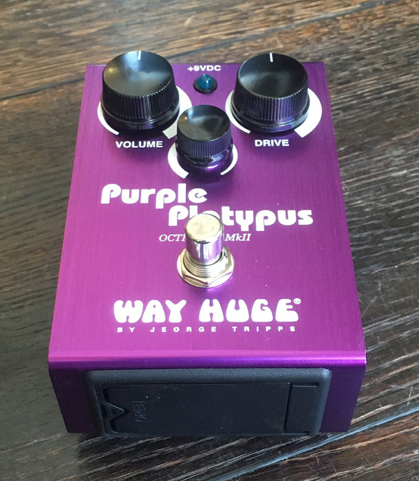 Used Way Huge Purple Platypus Octidrive Octave Overdrive Guitar Effect Pedal With Box
