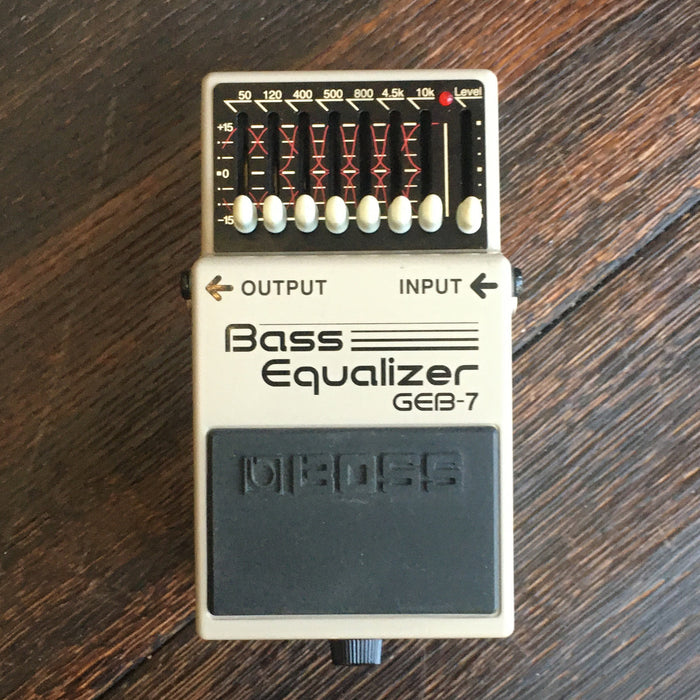 Used Boss GEB-7 Bass Equalizer Guitar Effect Pedal
