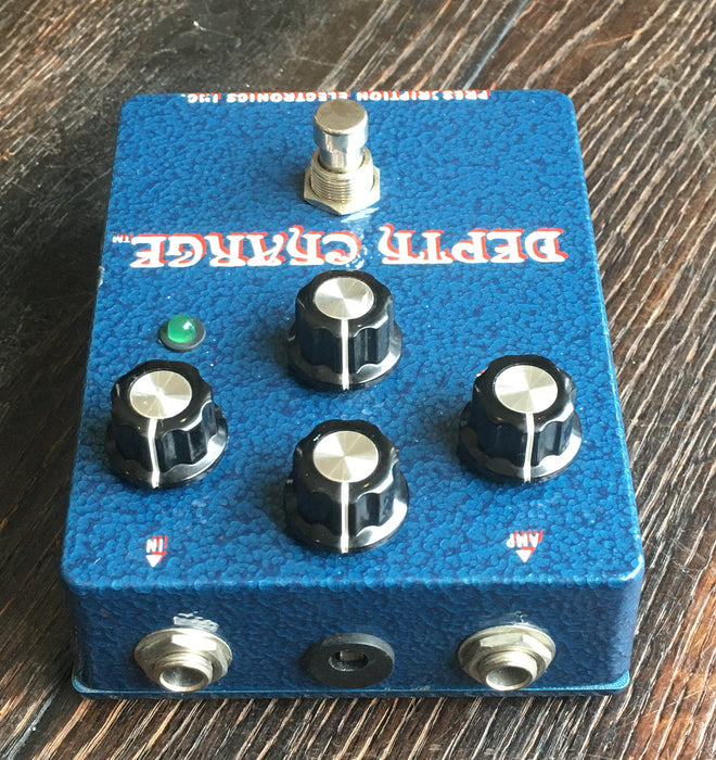 Used Prescription Electronics Depth Charge Bass Fuzz Effect Pedal With Adapter