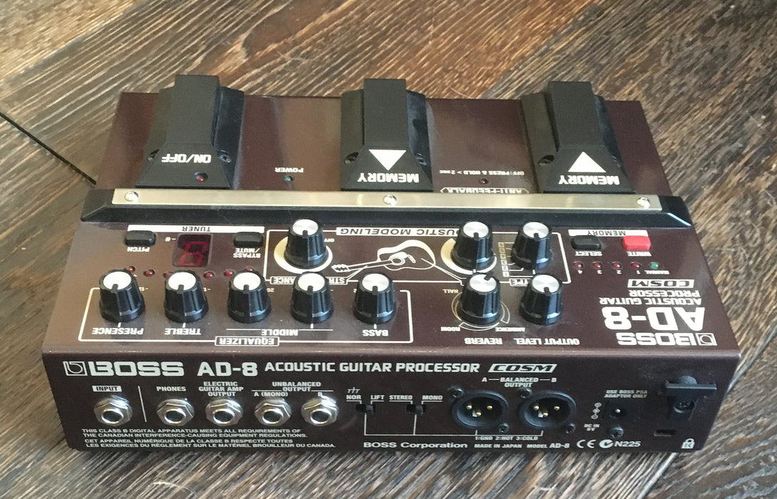 Used Boss AD-8 Acoustic Guitar Processor Guitar Effect Pedal With Box