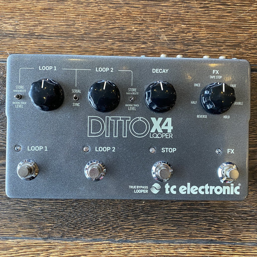 Used TC Electronic Ditto X4 Looper Guitar Effect Pedal