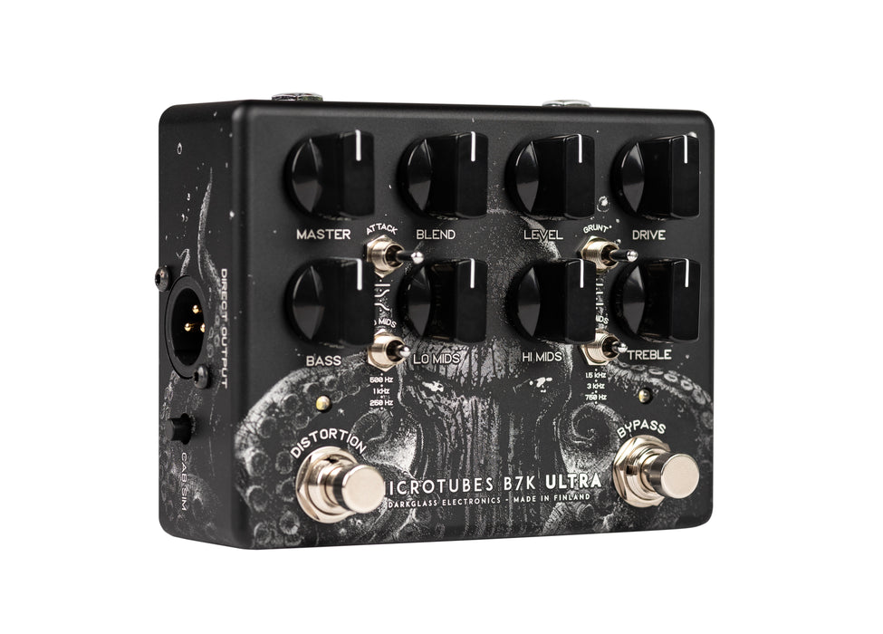 "Darkglass Electronics Limited Edition ""The Squid"" Microtubes B7K Ultra Distortion EQ Effect Pedal"