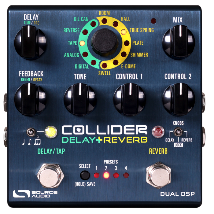 Source Audio Collider Stereo Delay / Reverb Guitar Effect Pedal
