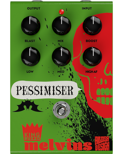 Hilbish Designs Melvins King Buzzo Pessimiser 3 Band Active EQ Guitar Pedal
