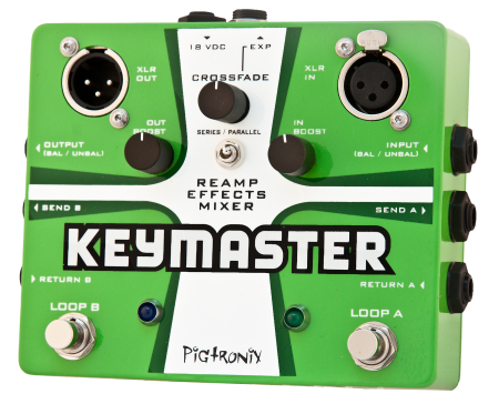 Pigtronix Keymaster Series / Parallel True Bypass Effects Mixer
