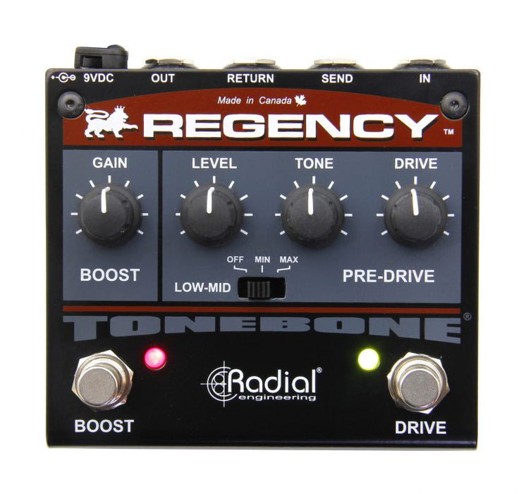 Radial Engineering Tonebone Regency Pre-drive and Booster Guitar Effect Pedal