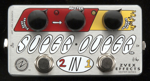 Zvex Vexter Series Super Duper 2-In-1 Clean Boost Guitar Pedal