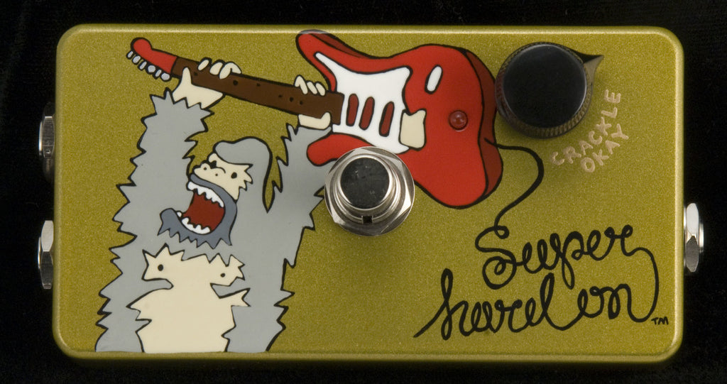 "Zvex USA Handpainted Super Hard On ""SHO"" Clean Boost Guitar Pedal"