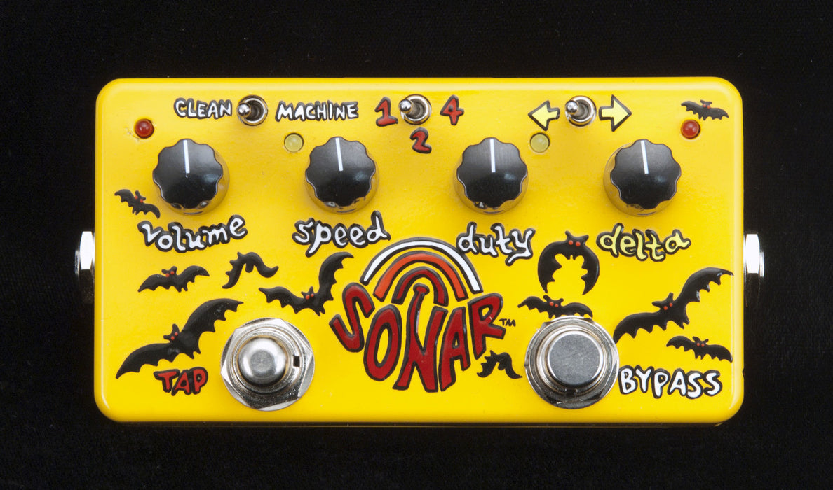 Zvex USA Made Handpainted Sonar Tremolo Guitar Pedal
