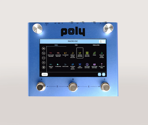 Poly Effects Beebo Visual Multi Modulation/ Quad Channel Delay/Reverb/Mixer/Cab Simulator Blue Version