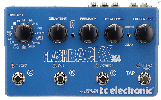 TC Electronic Flashback X4 Tap Tempo Delay Guitar Pedal