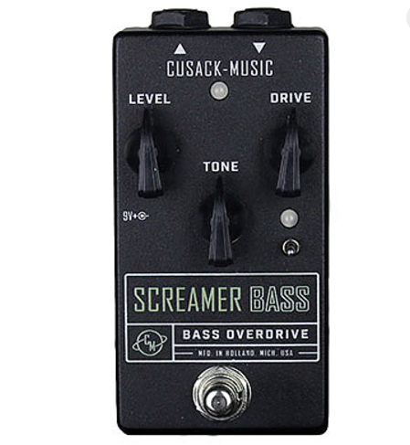 Cusack Audio Screamer Bass Overdrive Guitar Effect Pedal