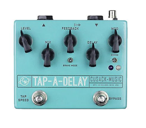 Cusack Audio Tap A Delay Tap Tempo Delay w/ Modulation Guitar Effect Pedal