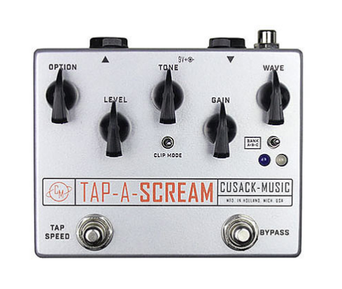 Cusack Audio Tap a Scream Screamer w/ Tap Tempo Trem Guitar Effect Pedal