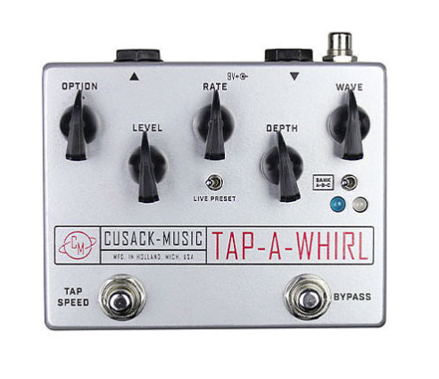 Cusack Audio Tap a Whirl Analog Tap Tempo Trem Guitar Effect Pedal