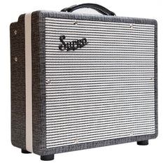 Supro 1600 Supreme 6V6 1x10 Tube Combo Guitar Amplifier Black Rhino Hide Tolex