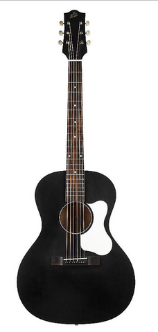 The Loar LO-14 Black Small Body Acoustic Guitar