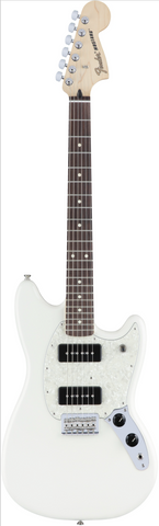 Fender Mustang 90 - Olympic White with Rosewood Fingerboard