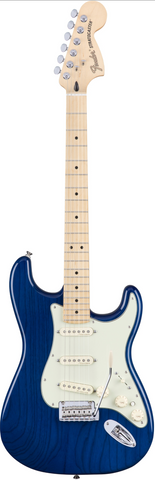 Fender Deluxe Strat Electric Guitar Sapphire Blue Transparent