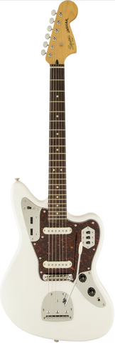 Fender Vintage Modified Squire Jaguar Olympic White Electric Guitar