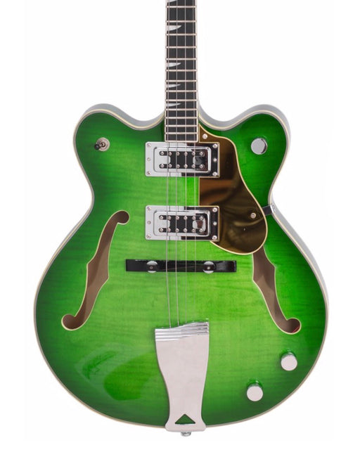 Eastwood Classic Tenor 4 String Semi Hollow Guitar Greenburst