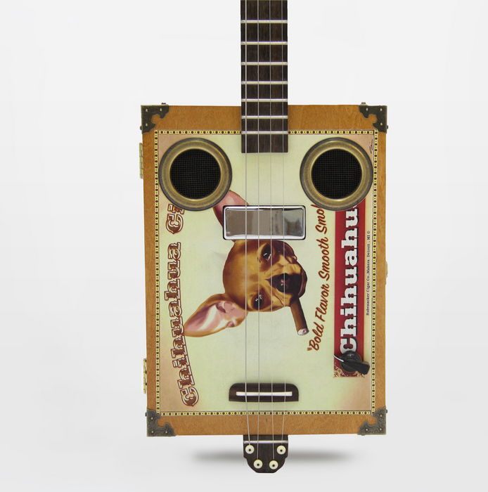 Daddy Mojo Classic Series 4 String Chihuahua Cigar Box Guitar