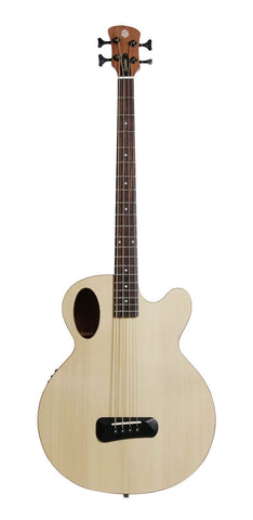 Spector Timbre Series Acoustic Electric Bass Guitar Natural