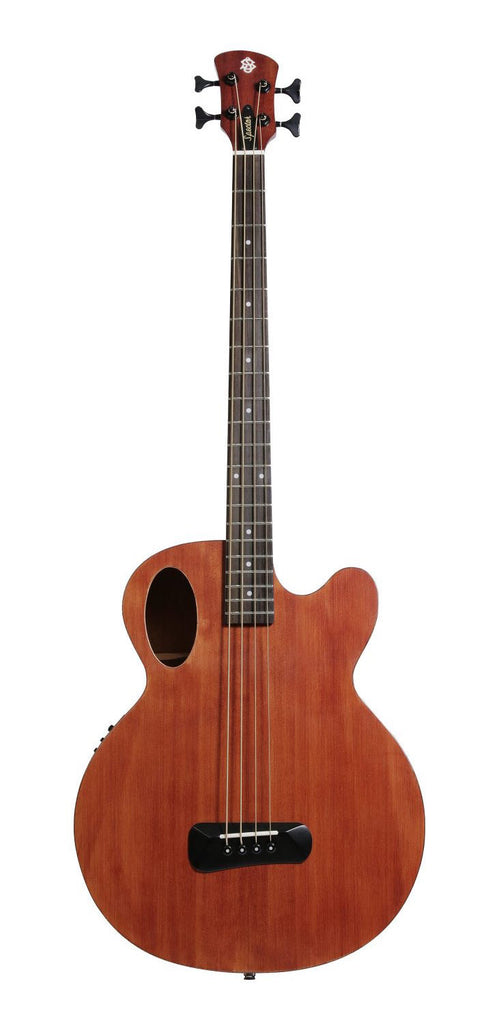 Spector Timbre Series Acoustic Electric Bass Guitar Mahogany