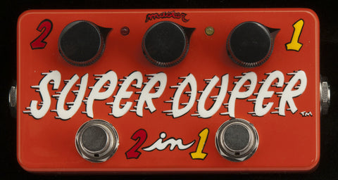 Zvex USA Made Handpainted Super Duper 2-In-1 Clean Boost Guitar Pedal