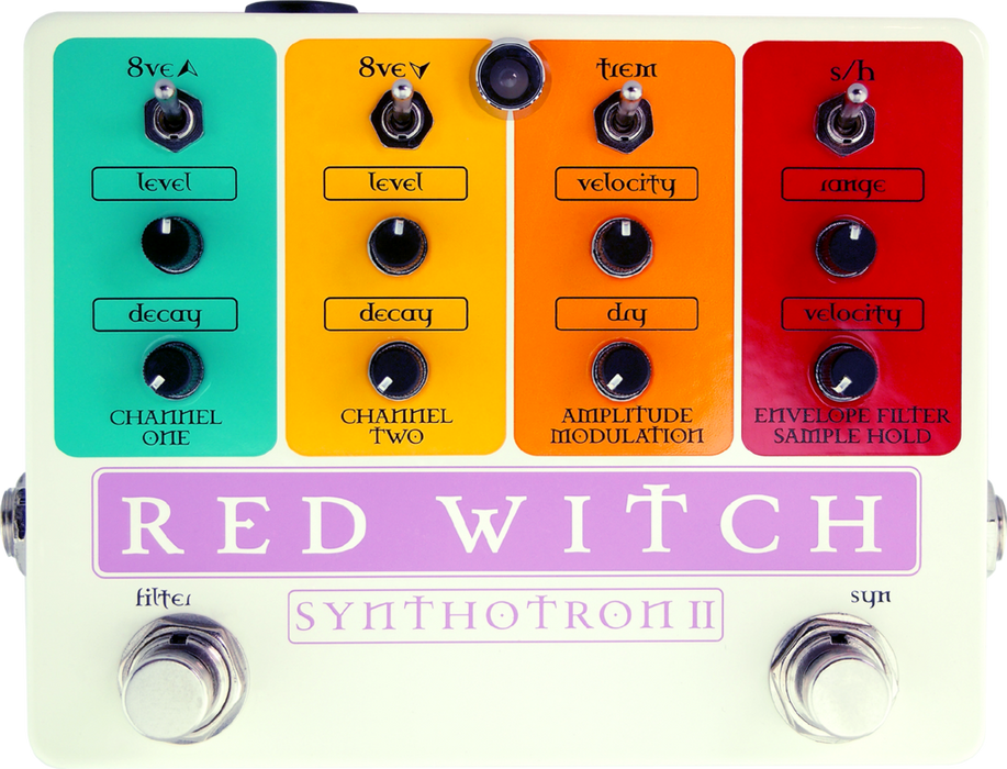 Red Witch Synthotron II Analog Synth Envelope Filter Guitar Effect Pedal