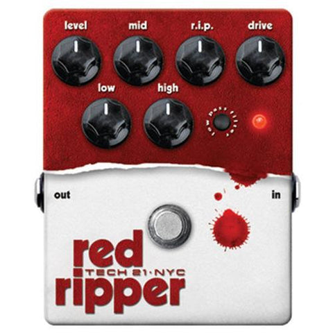 Tech 21 Red Ripper Bass Fuzz Pedal