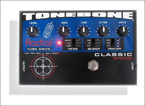 Radial Engineering Tonebone Classic Tube Overdrive Guitar Effect Pedal