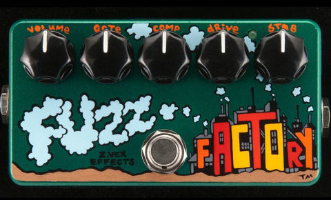 Zvex USA Made Hand Painted Fuzz Factory Fuzz Guitar Pedal
