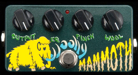 Zvex USA Made Handpainted Wooly Mammoth Bass Fuzz Guitar Pedal