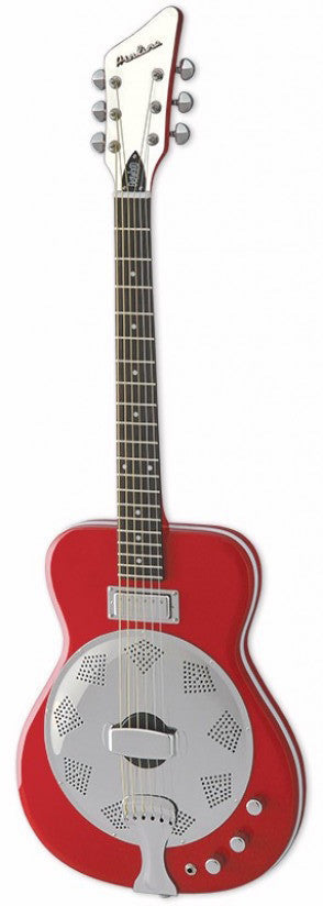 Eastwood Airline Folkstar Resonator Electric Guitar Red