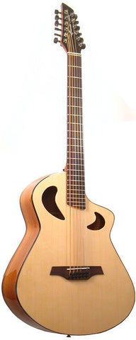 Veillette Avante Baritone 12 String Acoustic Guitar Natural