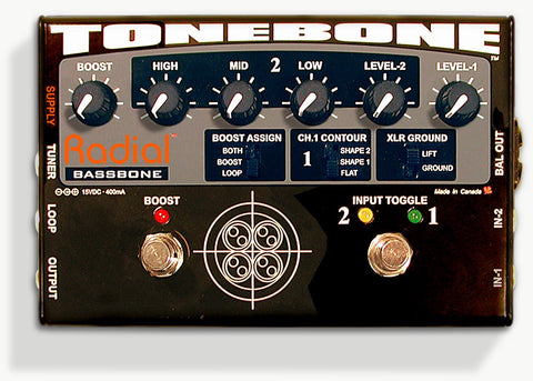 Radial Engineering Tonebone Bassbone Bass Pre DI Bass Effect Pedal