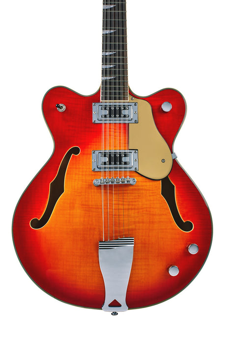 Eastwood Airline Classic 12 String Semi Hollow Guitar Fireburst