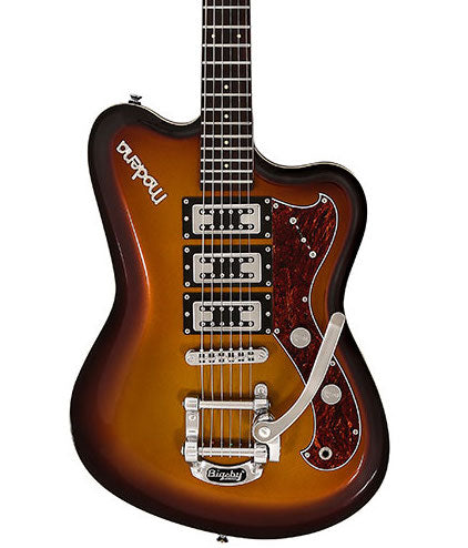 Italia Modena Challenge Electric Guitar with Bigsby Tobacco Sunburst